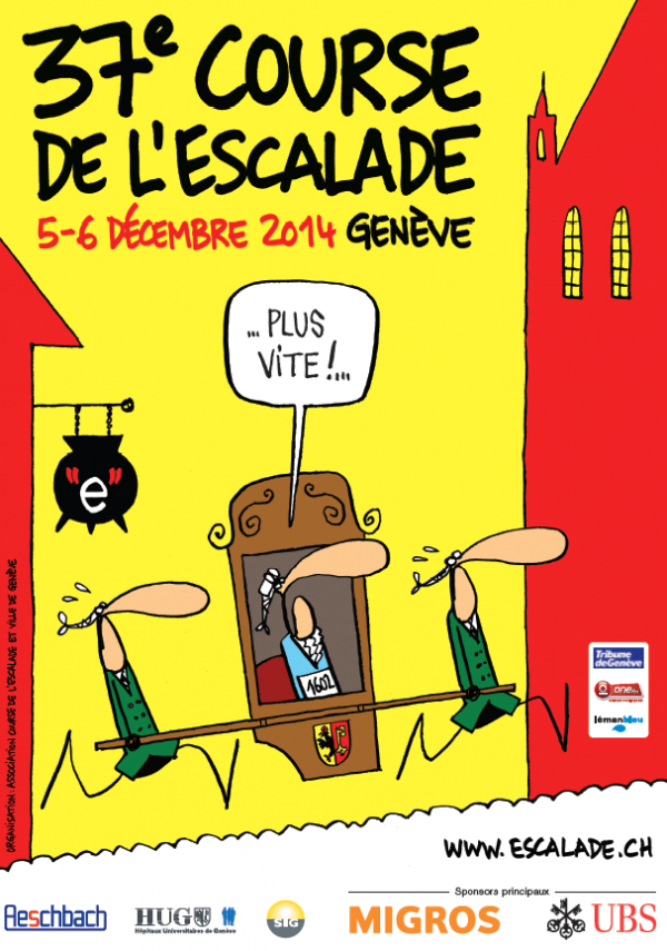 Affiche 37e Course de l'Escalade 2014 par Mix & Remix